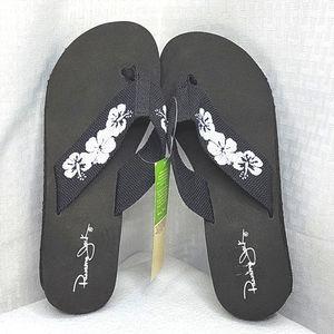 Panama Jack Shoes Flip Flop Wedges sz 8.5 NWT